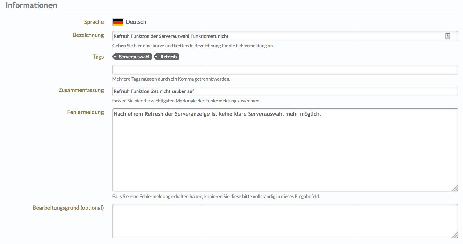 Guide zum neuen Bugtracker - Announcements & News - Revelation ...